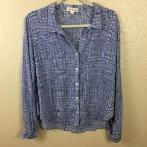 Cloth & Stone button down top sz S